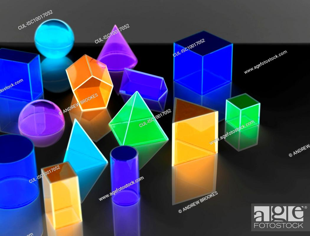Imagen: Geometric shapes used in maths and calculus education.