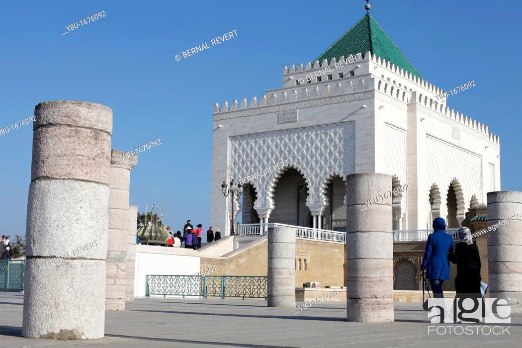 Stock Photo: Mausoleum of Mohammed V in Rabat, Morocco.