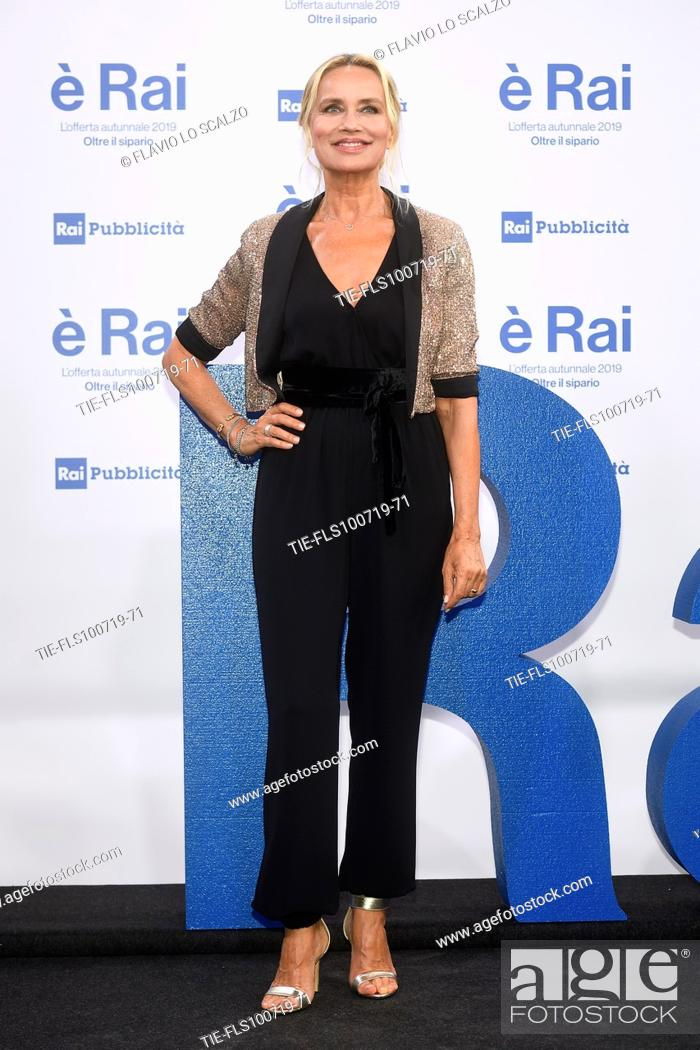 Stock Photo: Gloria Guida during the Rai programming launch in Milan, ITALY-09-07-2019.