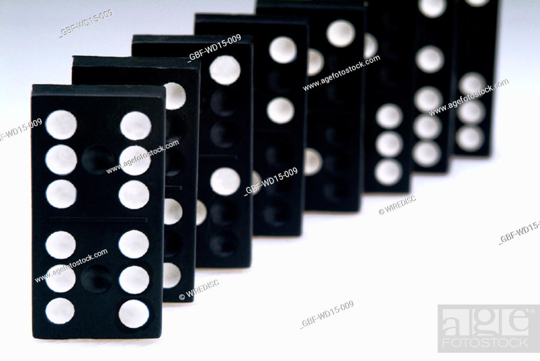 Stock Photo: Businesses Concepts II, domino, Brazil.