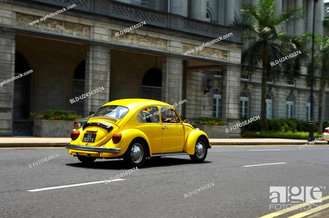 Stock Photo: Car in street, Singapore.