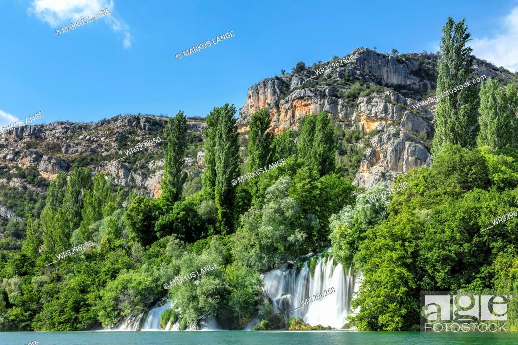 Stock Photo: Roski Slap Waterfall, Krka National Park, Dalmatia, Croatia, Europe.