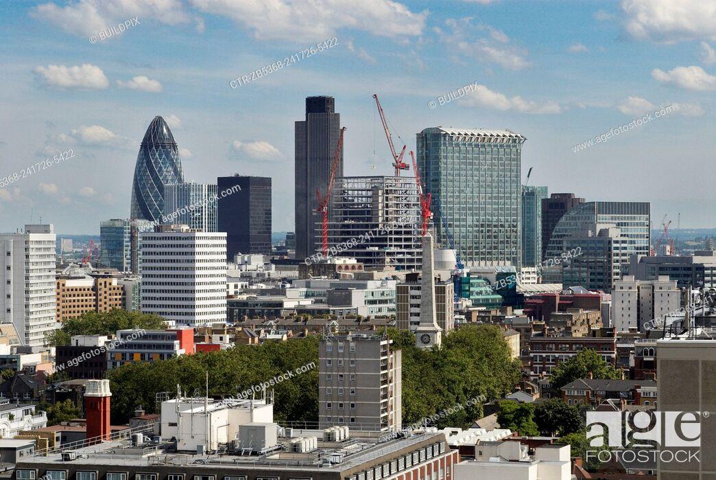 Stock Photo: City of London skyline, UK.