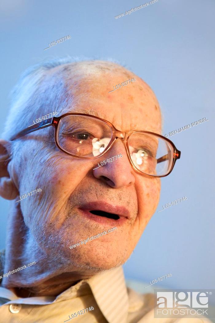 Stock Photo: A senior man smiling.