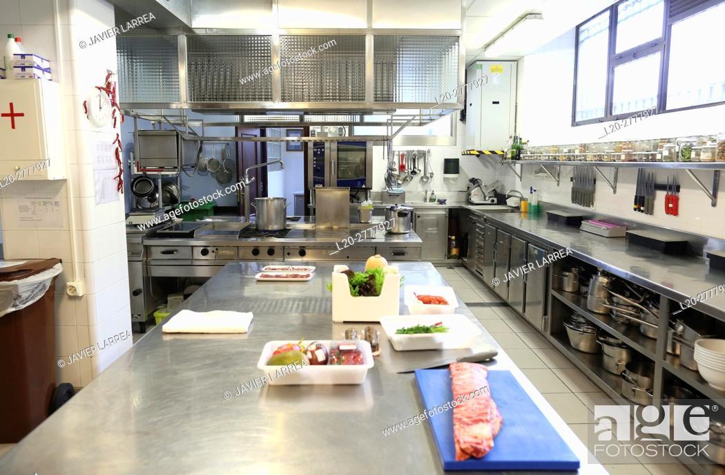 Stock Photo: Cooking school, Cuisine School, Donostia, San Sebastian, Gipuzkoa, Basque Country, Spain, Europe.