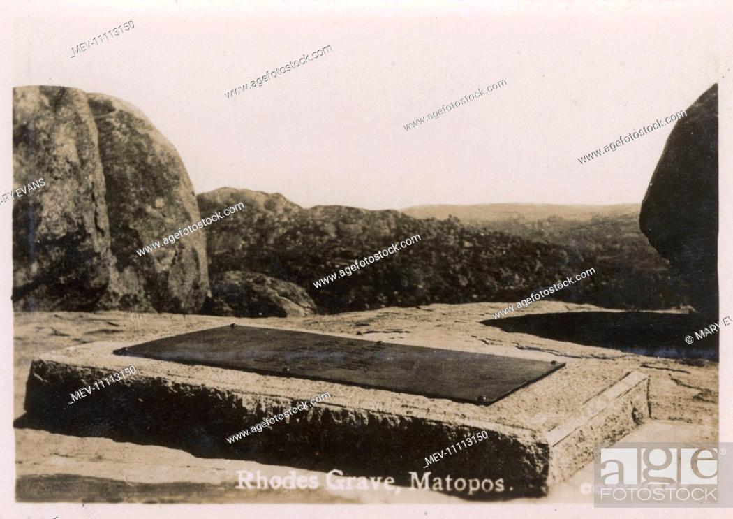 Stock Photo: Grave of Cecil Rhodes, Matobo (Rhodes Matopos National Park), near Bulawayo, Southern Rhodesia (now Zimbabwe).