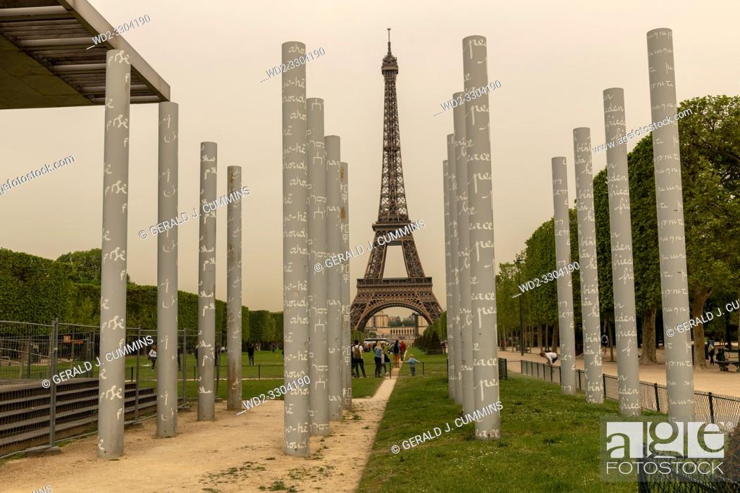 Stock Photo: For years the 9-meter-high monument has been the subject of intense controversy, both on its artistic value and on its location and the legality of its.