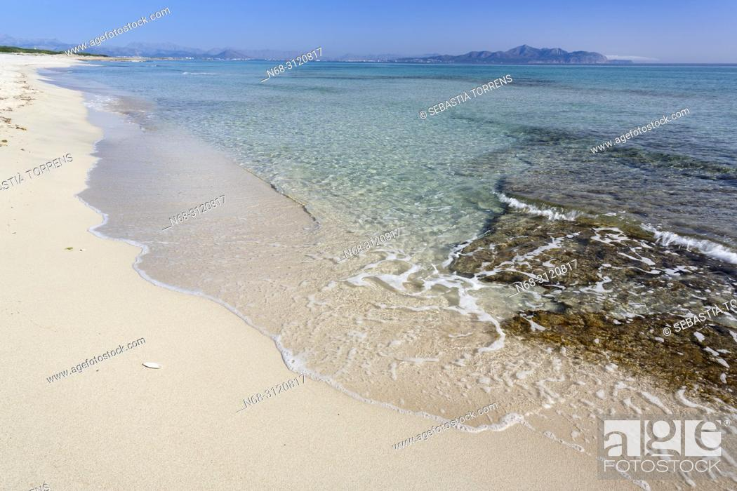 Stock Photo: Son Real beach, Santa Margalida, Majorca, Balearic Islands, Spain.