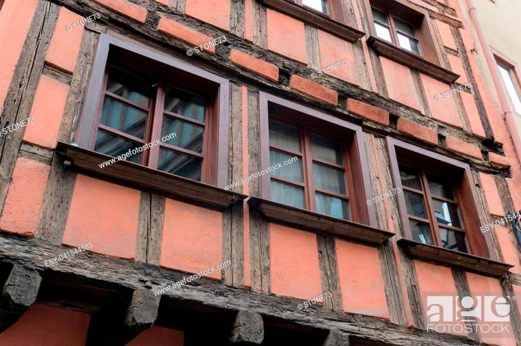 Stock Photo: old house in la petit France district on Strasbourg.