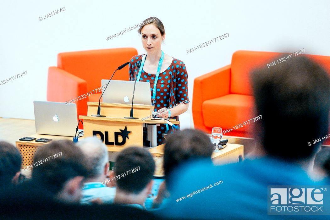 "Stock Photo: BAYREUTH/GERMANY - JUNE 21: Princess Auguste of Bavaria / von Bayern speaks about her museum project """"Biotopia"""" during the DLD Campus event at the University."