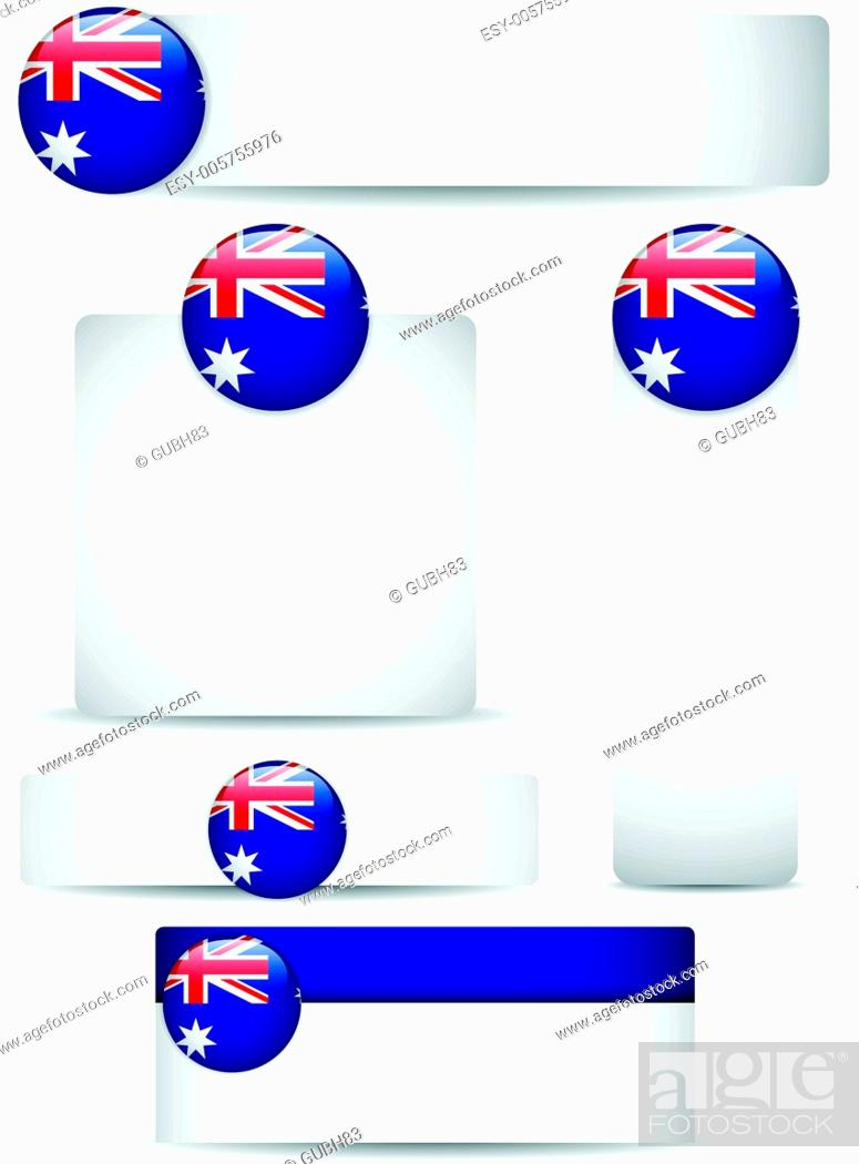 Stock Vector: Australia Country Set of Banners.