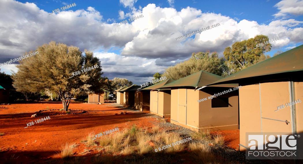 Stock Photo - Tent safari c& at Kings Canyon Central Australia & Tent safari camp at Kings Canyon Central Australia Stock Photo ...