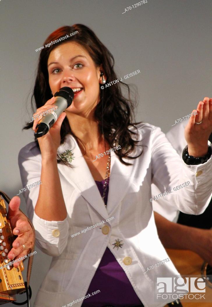 Stock Photo: Melanie Oesch singer and songwriter.