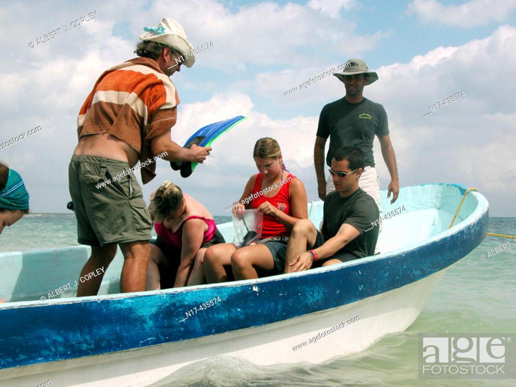 Stock Photo: Boat. Mahahual, Mayan Riviera, Caribbean. Yucatán, Mexico.