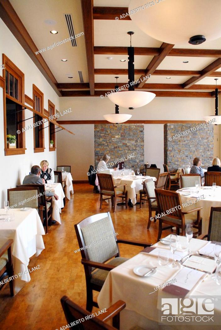 Stock Photo: Restaurant, Willamette Valley, Oregon, USA.