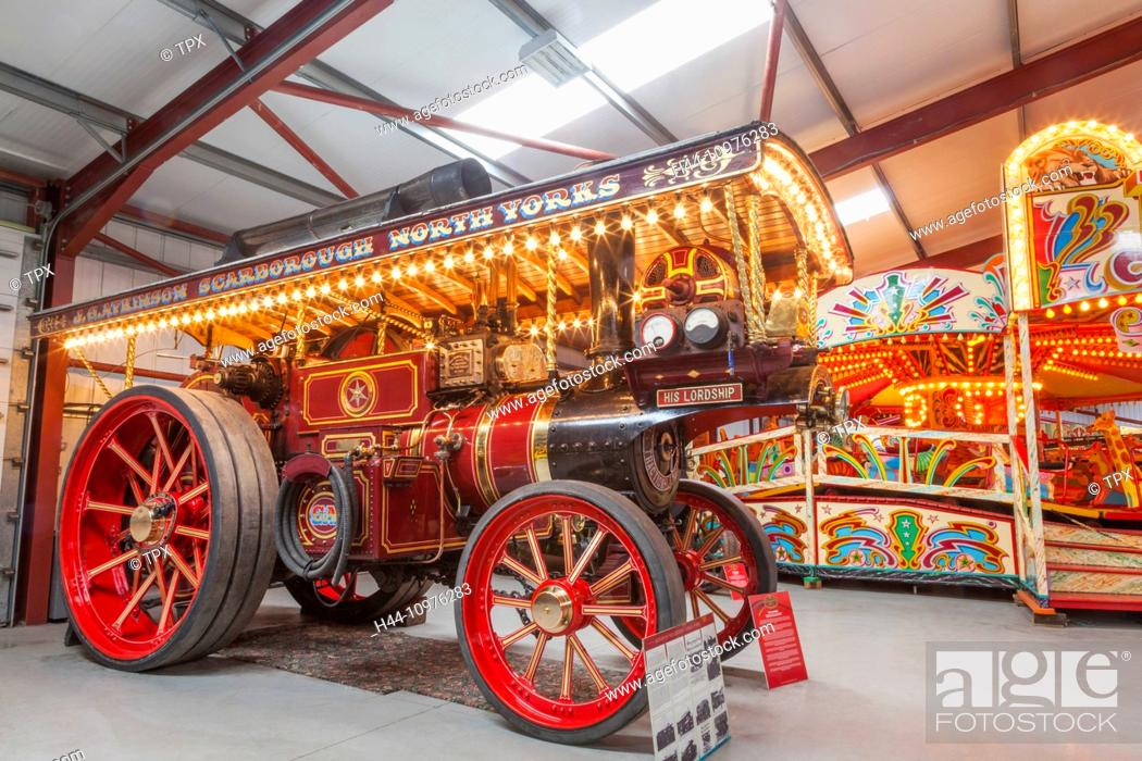 Imagen: England, Yorkshire, Fiely, The Scarborough Fair Collection, Vintage Steam Tractors.