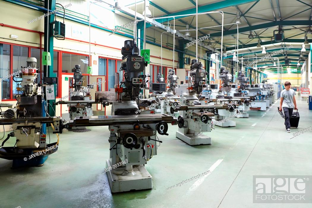 Stock Photo: Machine tool for training students. IMH. Institute of Machine Tools. Elgoibar. Gipuzkoa. Basque Country. Spain.