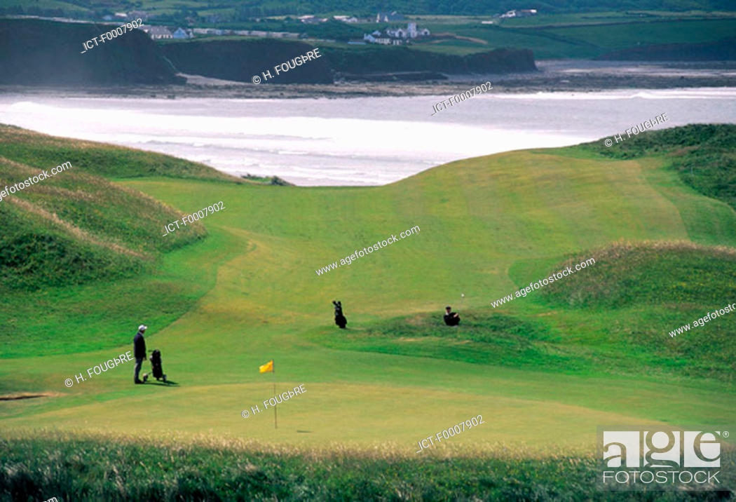 Stock Photo: Ireland, Lahinch, golf course.