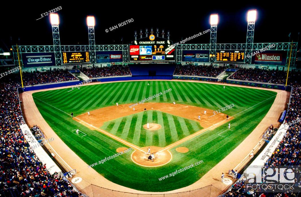 Stock Photo: U.S. Cellular Field, Chicago 'White Sox' baseball stadium. Chicago. Illinois, USA.