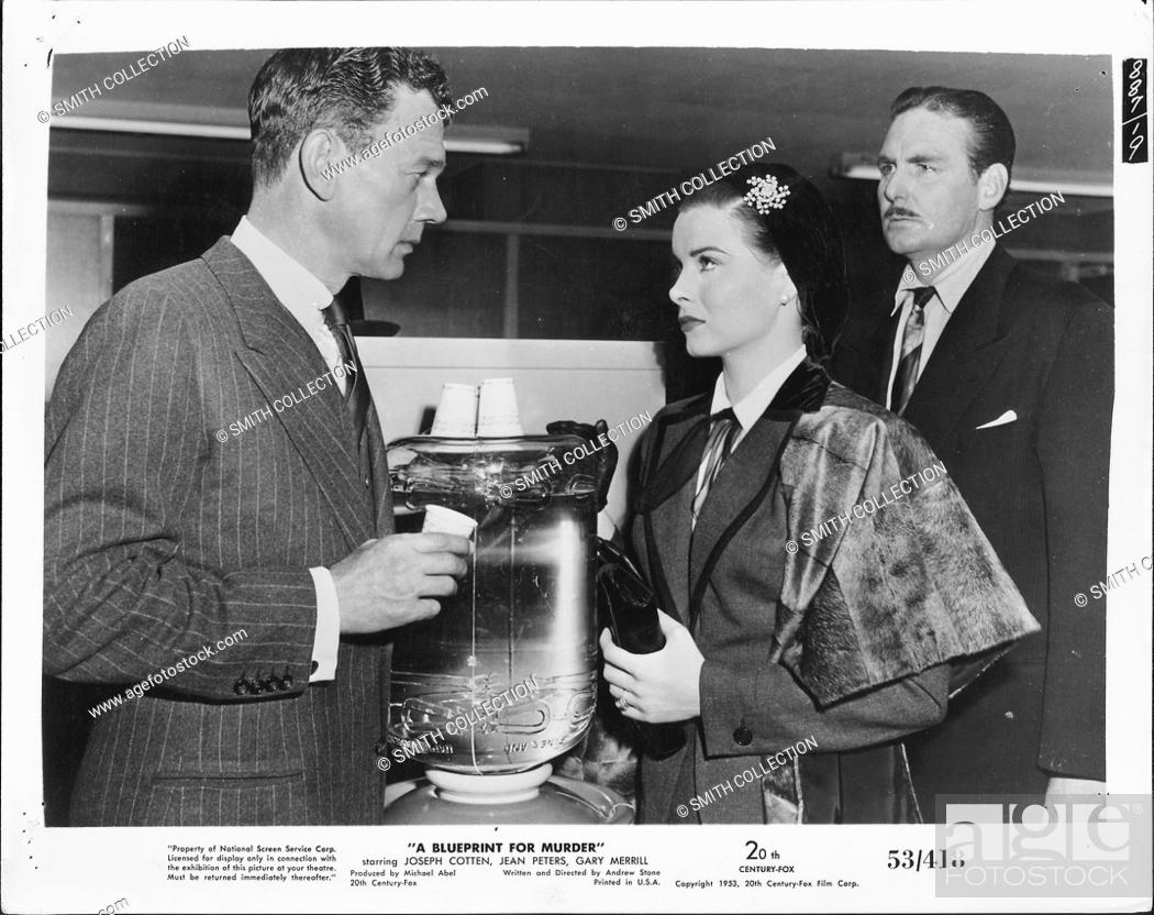 A movie still scene from a blueprint for murder 1953 20th century stock photo a movie still scene from a blueprint for murder 1953 20th century fox thriller film showing a man in a striped dark suit sort of malvernweather Image collections