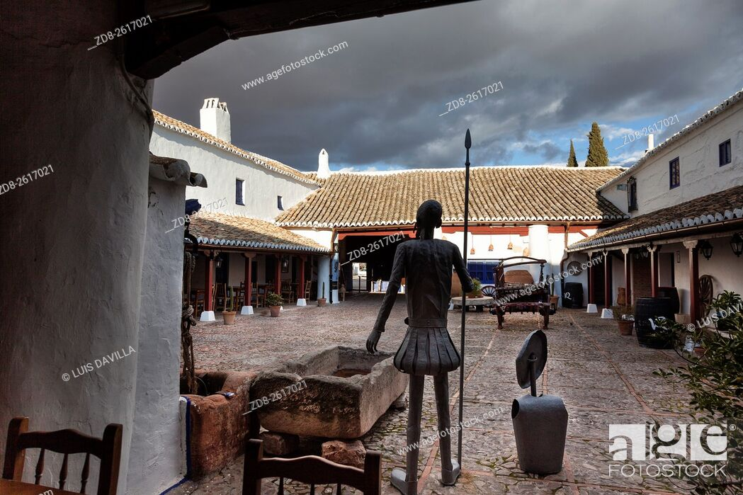 Imagen: Many episodes of Don Quixote de la Mancha are staged at the â. œVentasâ. . , inns on the roadsides of Spain . Puerto Lapice still has an intact 17 th century â.