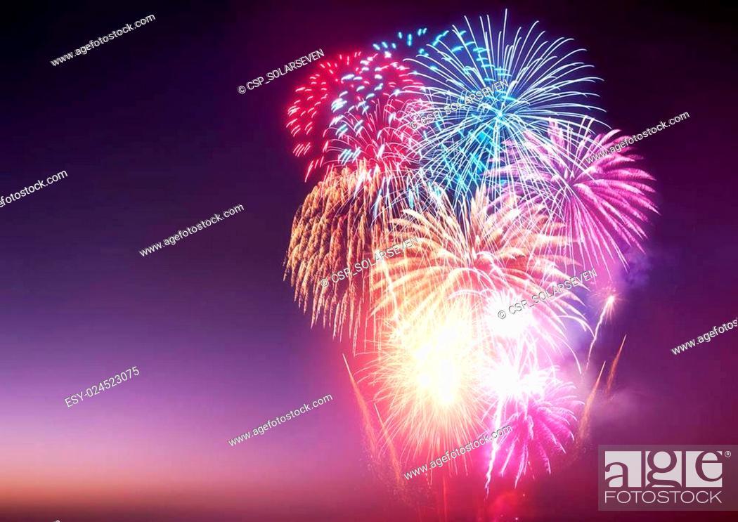 Stock Photo: Fireworks Display.