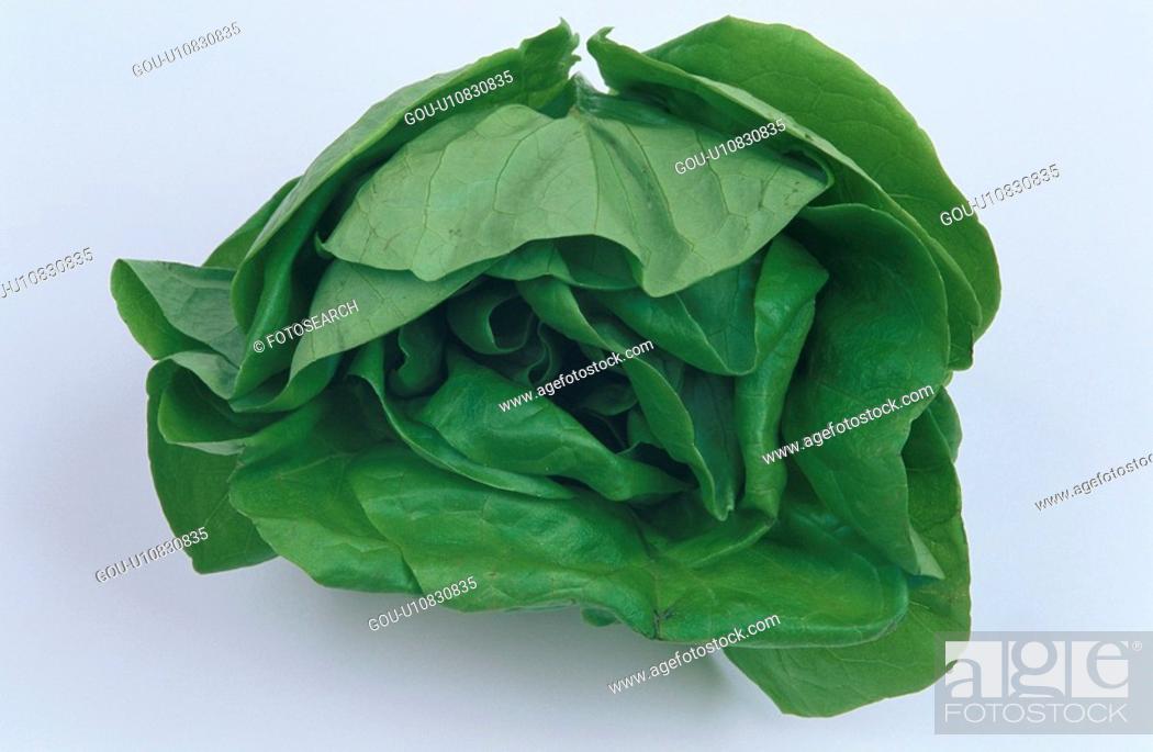 Stock Photo: Leaves Of Lettuce.