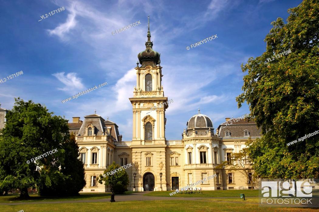 Stock Photo: Festetics Baroque Palace 1745-1887 - Keszthely, Lake Balaton, Hungary.