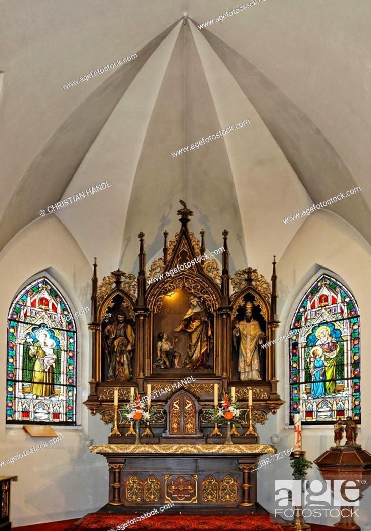 Neo Gothic Carved Altar At The Church In Hirtenberg Triesingtal