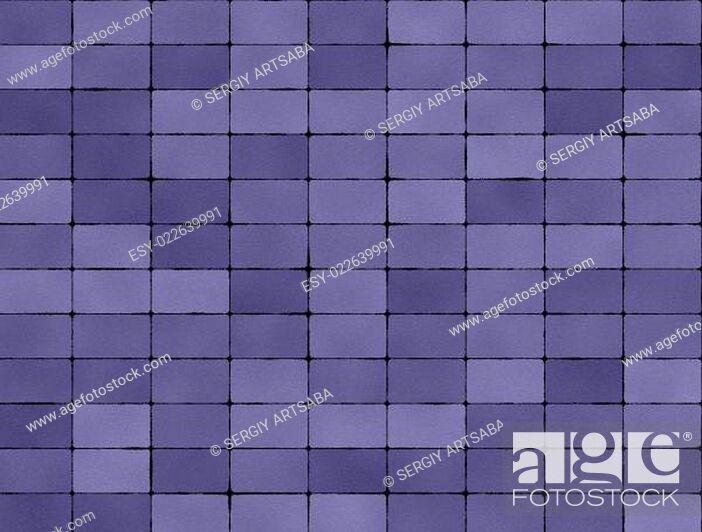 Stock Photo: Seamless texture of purple tiles.