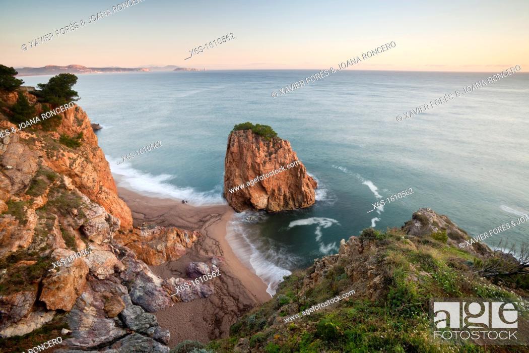 Stock Photo: Illa Roja, Cala Racó in Sa Riera, Begur, Costa Brava, Girona, Spain.