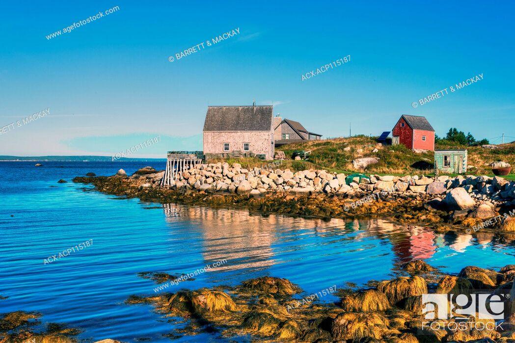 Stock Photo: Middle Point Cove, Nova Scotia, Canada.