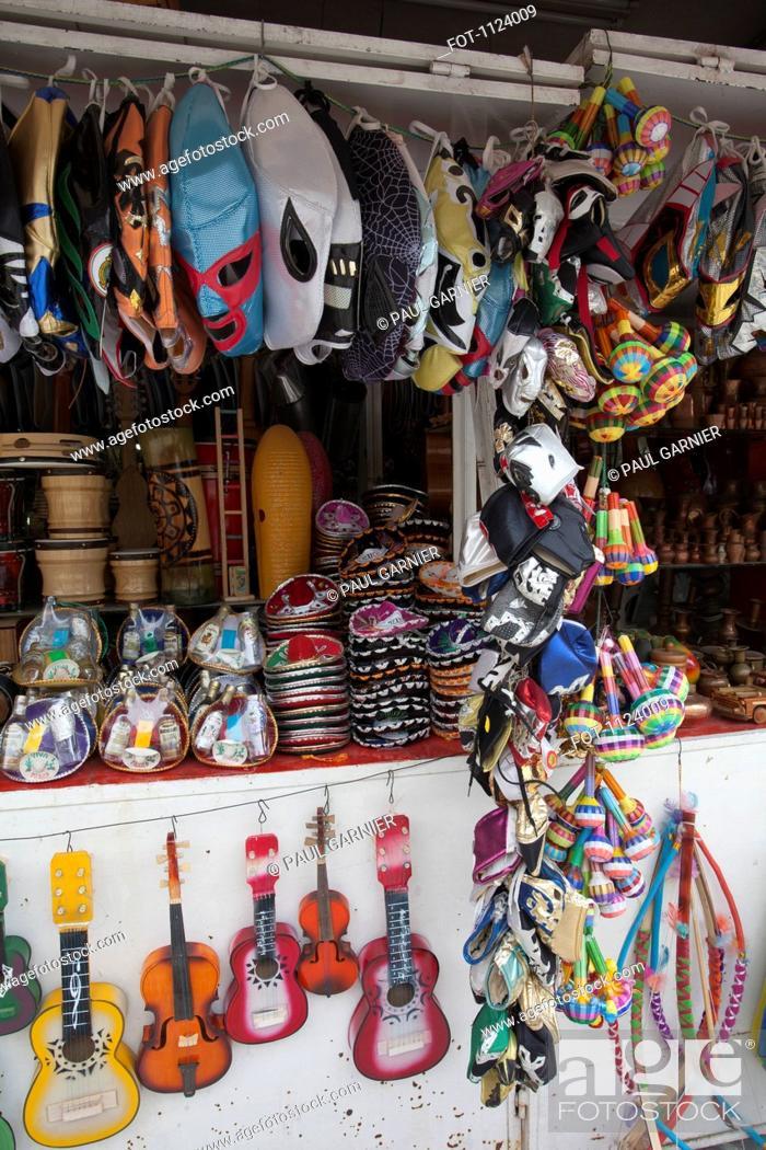Stock Photo: A souvenir stall, Mexico City, Mexico.