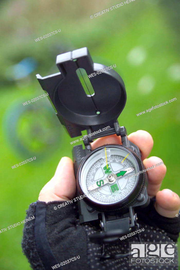 Stock Photo: The mountainbikers' compass.