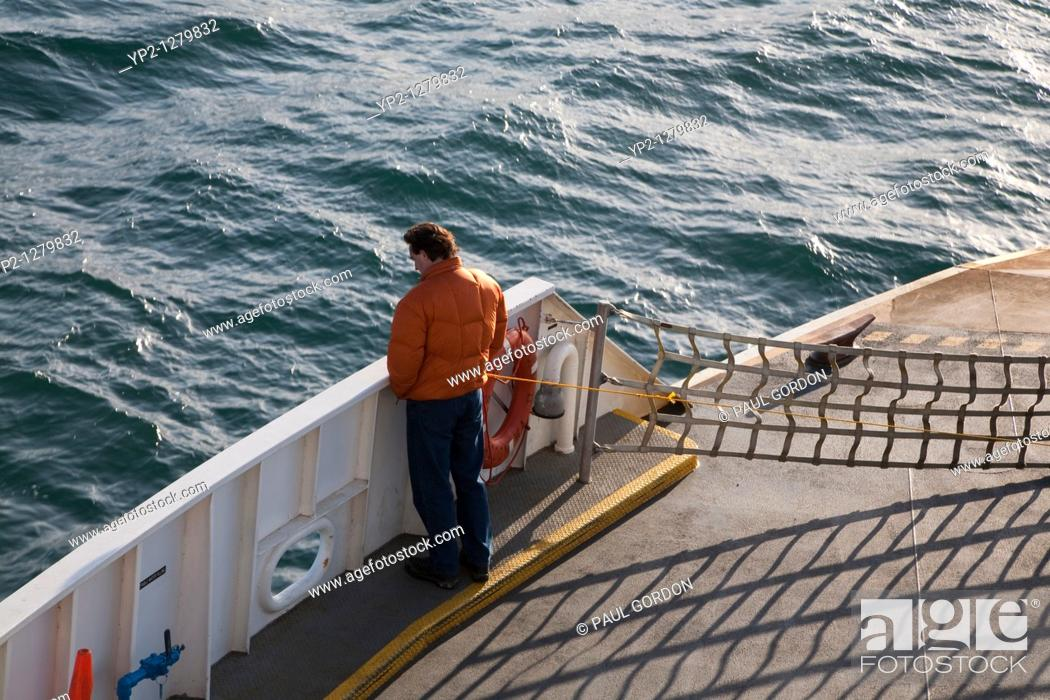 Stock Photo: Passenger Ferry on Puget Sound, Port Townsend to Keystone Ferry.