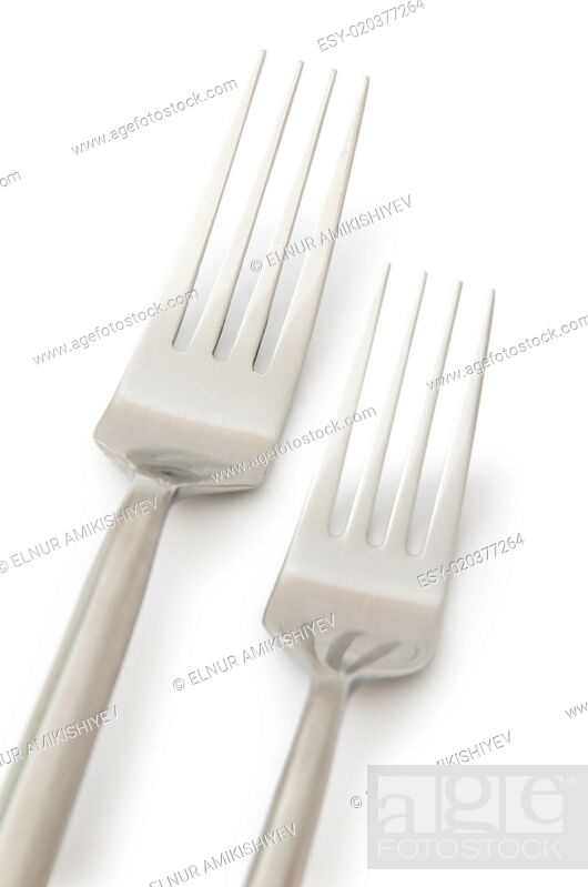 Stock Photo: Table utensils isolated on the white.