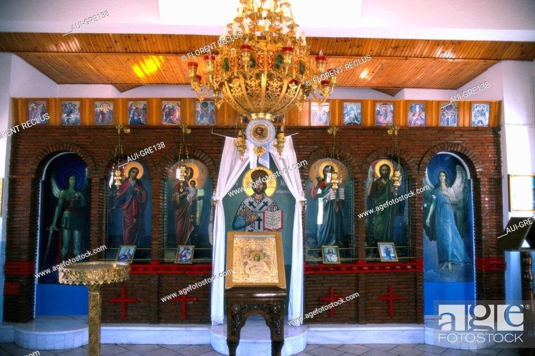 Stock Photo: Greece - Central Greece - Deofina - Iconostase Chapel.