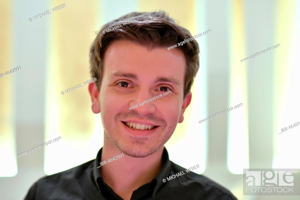 Photo de stock: Young man, portrait, Stuttgart, Baden-Württemberg, Germany.