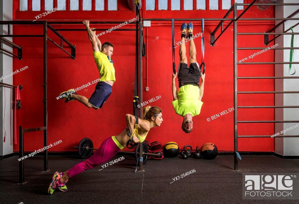 Stock Photo: Cross fit training.