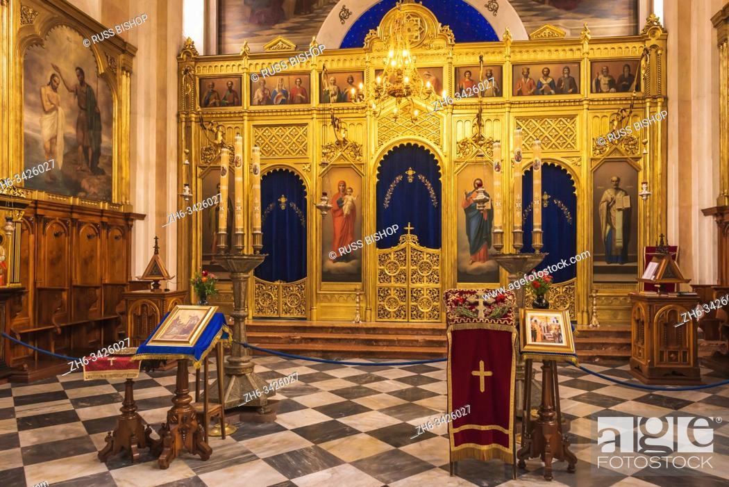 Stock Photo: The altar in the Church of the Holy Annunciation, Dubrovnik, Dalmatian Coast, Croatia.