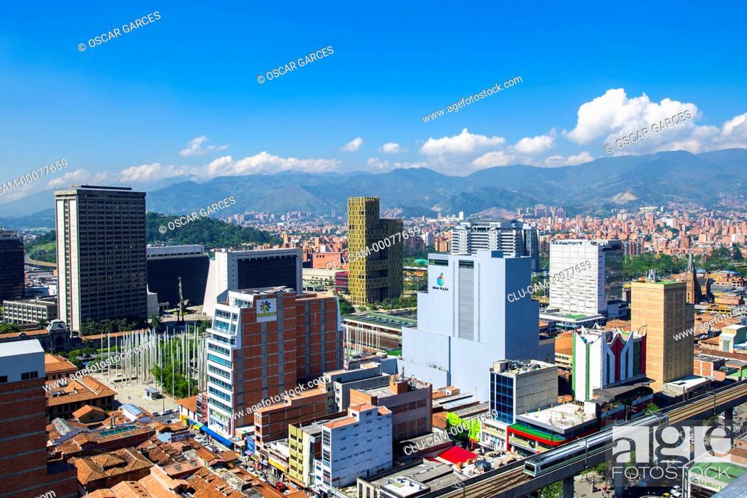 Stock Photo: Medellin Center, Medellin, Antioquia, Colombia.