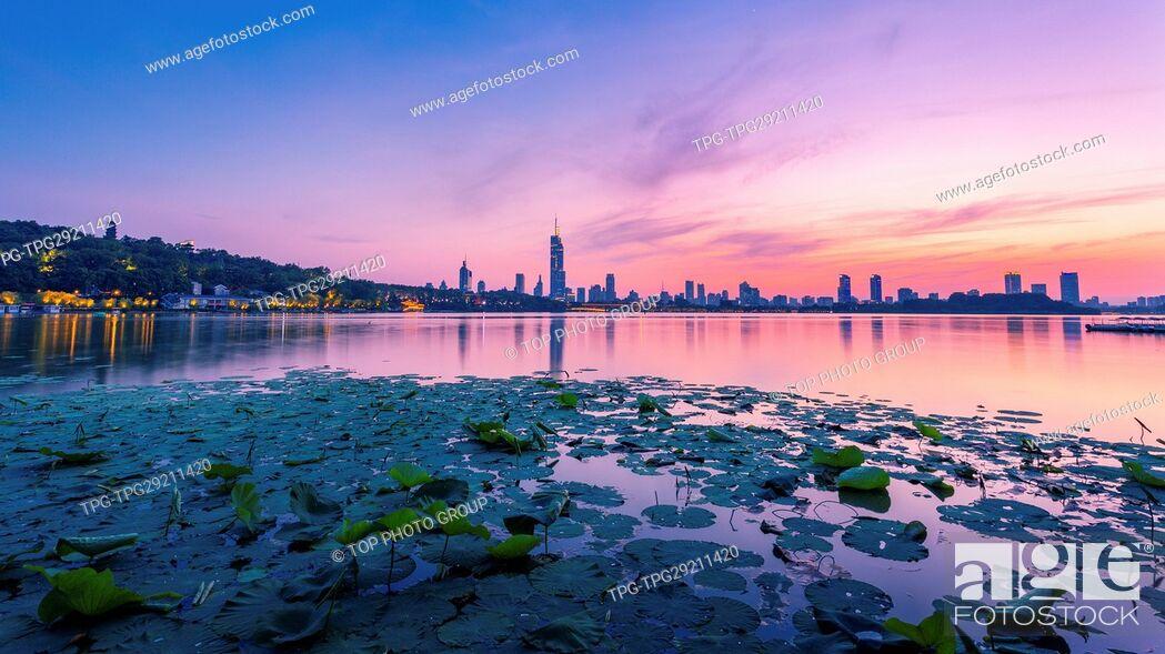 Stock Photo: Xuanwu Lake; Nanjing; Jiangsu.China.