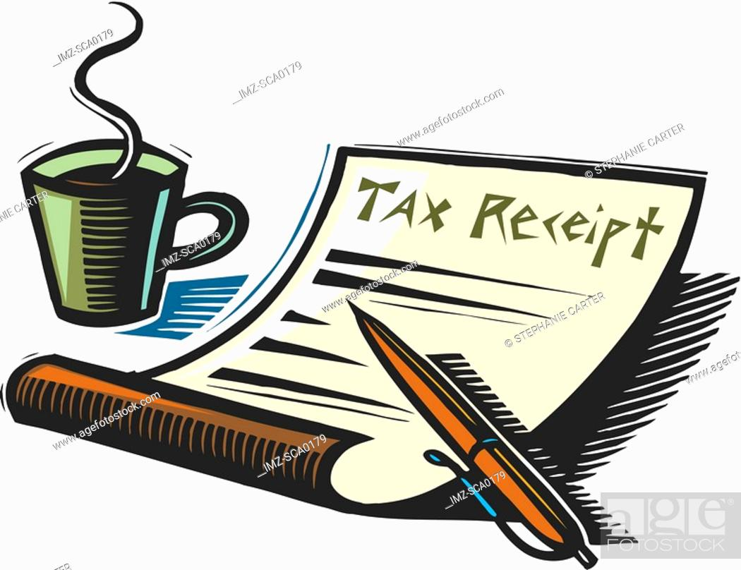 Stock Photo: tax receipt.