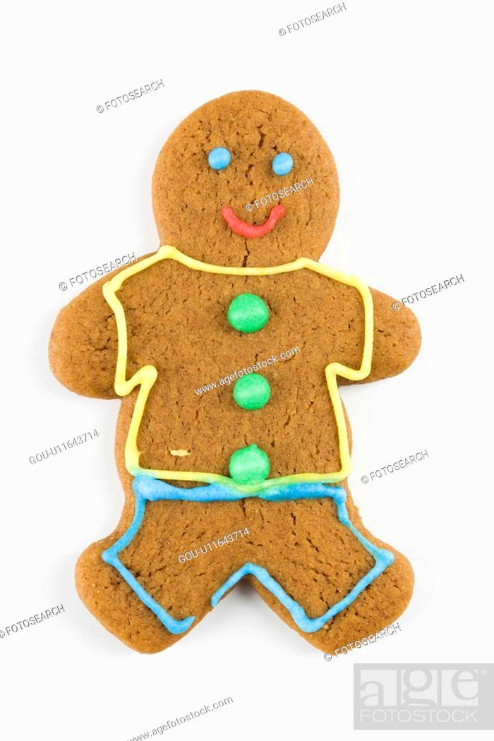 Stock Photo: Gingerbread man cookie.