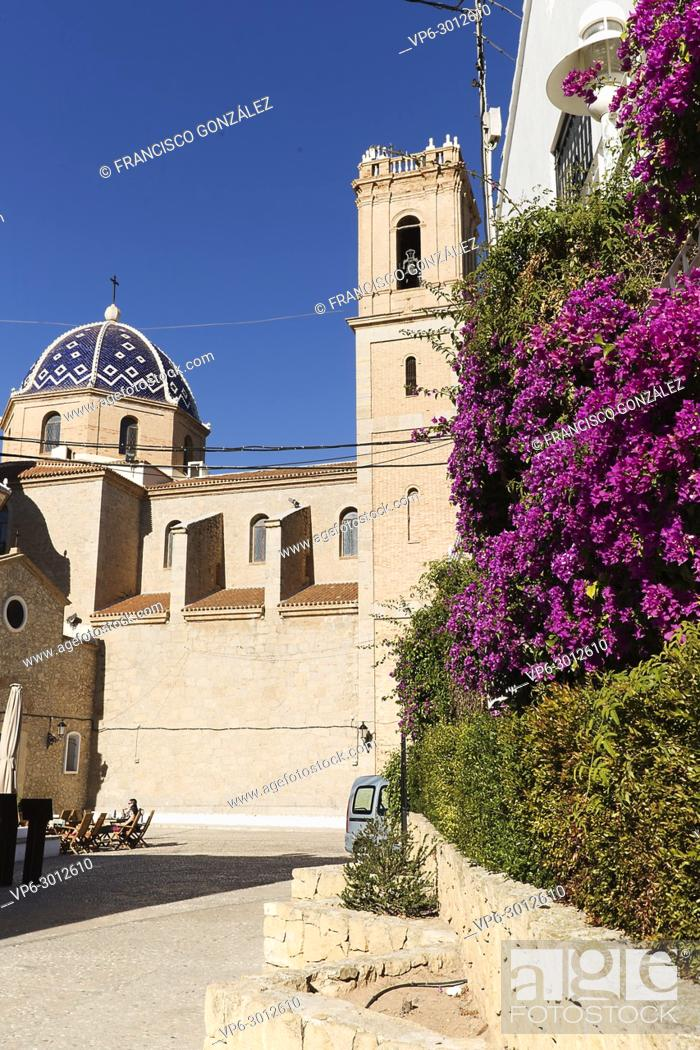 Photo de stock: Church of Our Lady of Consuelo in Altea, in the province of Alicante, Spain.
