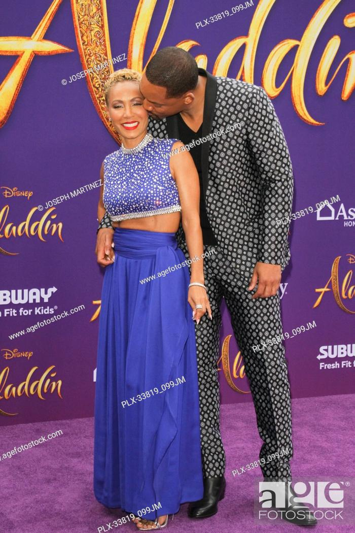 "Imagen: Will Smith, Jada Pinkett Smith at The World Premiere of Disney's """"Aladdin"""" held at El Capitan Theatre, Hollywood, CA, May 21, 2019."