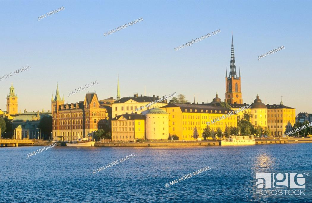 Stock Photo: 10856440, Sweden, Stockholm, view, old town, Ridda.