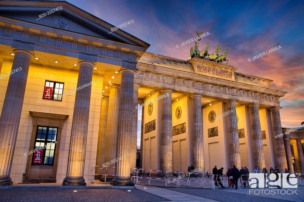 Stock Photo: Brandenburg Gate, Berlin, Germany.