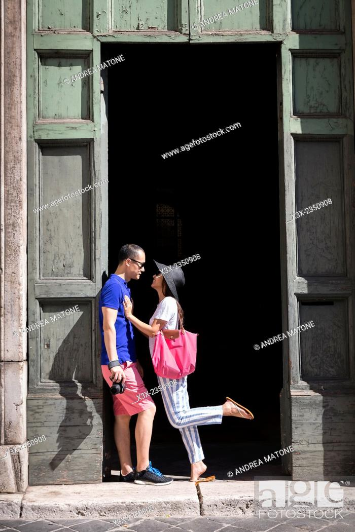 Stock Photo: Couple visiting Rome Italy.
