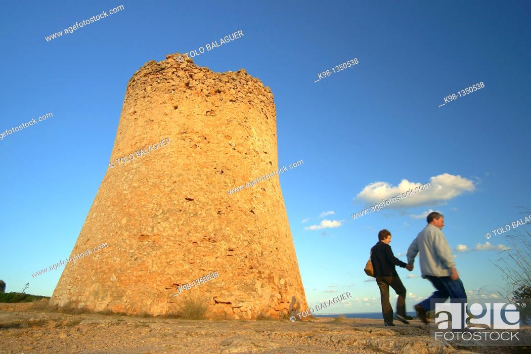 Stock Photo: Torre de Cala Pi XVI-XVII century Llucmajor Mallorca, Balearic Islands, Spain.